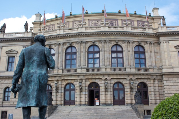 Statue of Antonín Dvořák in front of the Rudolfinum, where he used to conduct the Czech Philharmonic. #classicalmusicnerd